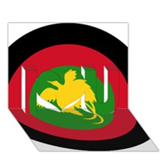 Roundel Of Papua New Guinea Air Operations Element I Love You 3d Greeting Card (7x5)