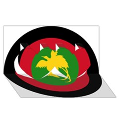 Roundel Of Papua New Guinea Air Operations Element Twin Hearts 3d Greeting Card (8x4)