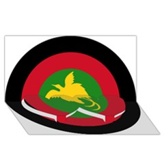 Roundel Of Papua New Guinea Air Operations Element Twin Heart Bottom 3d Greeting Card (8x4)