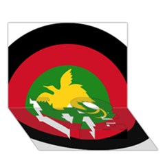 Roundel Of Papua New Guinea Air Operations Element Love Bottom 3d Greeting Card (7x5)