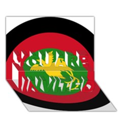 Roundel Of Papua New Guinea Air Operations Element You Are Invited 3d Greeting Card (7x5)