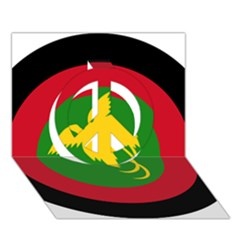 Roundel Of Papua New Guinea Air Operations Element Peace Sign 3d Greeting Card (7x5)