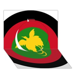 Roundel Of Papua New Guinea Air Operations Element Circle 3d Greeting Card (7x5)