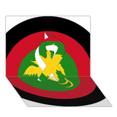 Roundel Of Papua New Guinea Air Operations Element Ribbon 3d Greeting Card (7x5)