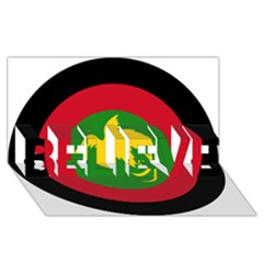 Roundel Of Papua New Guinea Air Operations Element Believe 3d Greeting Card (8x4)