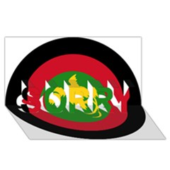 Roundel Of Papua New Guinea Air Operations Element Sorry 3d Greeting Card (8x4)