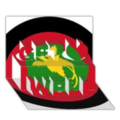 Roundel Of Papua New Guinea Air Operations Element Get Well 3d Greeting Card (7x5)