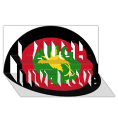 Roundel Of Papua New Guinea Air Operations Element Laugh Live Love 3d Greeting Card (8x4)