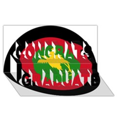 Roundel Of Papua New Guinea Air Operations Element Congrats Graduate 3d Greeting Card (8x4)