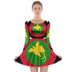 Roundel Of Papua New Guinea Air Operations Element Long Sleeve Skater Dress
