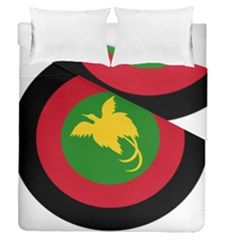 Roundel Of Papua New Guinea Air Operations Element Duvet Cover Double Side (queen Size)