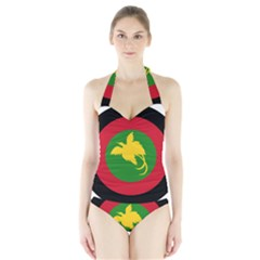 Roundel Of Papua New Guinea Air Operations Element Halter Swimsuit
