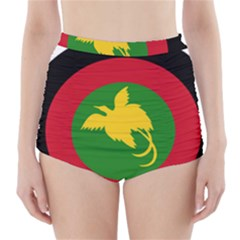 Roundel of Papua New Guinea Air Operations Element High-Waisted Bikini Bottoms