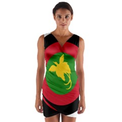 Roundel Of Papua New Guinea Air Operations Element Wrap Front Bodycon Dress