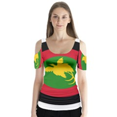 Roundel Of Papua New Guinea Air Operations Element Butterfly Sleeve Cutout Tee