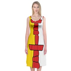 Flag Of Nunavut  Midi Sleeveless Dress