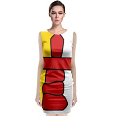 Flag Of Nunavut  Classic Sleeveless Midi Dress