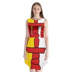Flag of Nunavut  Sleeveless Chiffon Dress