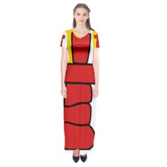 Flag Of Nunavut  Short Sleeve Maxi Dress