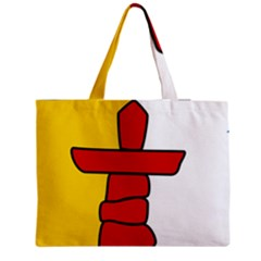 Flag of Nunavut  Medium Zipper Tote Bag
