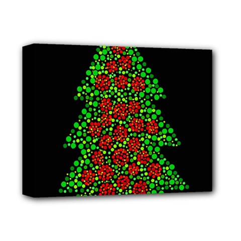 Sparkling Christmas tree Deluxe Canvas 14  x 11