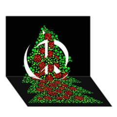 Sparkling Christmas tree Peace Sign 3D Greeting Card (7x5)