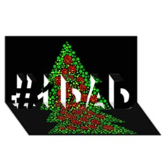 Sparkling Christmas tree #1 DAD 3D Greeting Card (8x4)