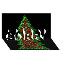 Sparkling Christmas tree SORRY 3D Greeting Card (8x4)