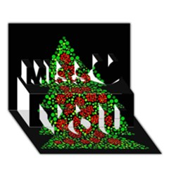 Sparkling Christmas tree Miss You 3D Greeting Card (7x5)