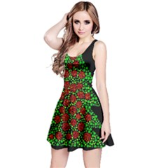 Sparkling Christmas tree Reversible Sleeveless Dress