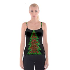 Sparkling Christmas tree Spaghetti Strap Top