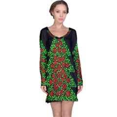Sparkling Christmas tree Long Sleeve Nightdress