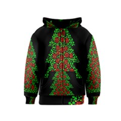 Sparkling Christmas tree Kids  Zipper Hoodie