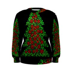 Sparkling Christmas tree Women s Sweatshirt