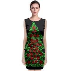 Sparkling Christmas Tree Classic Sleeveless Midi Dress