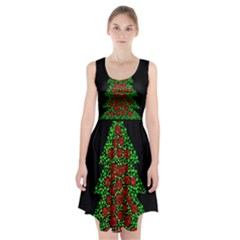 Sparkling Christmas Tree Racerback Midi Dress