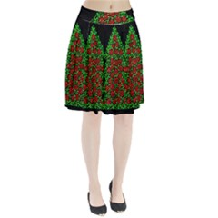 Sparkling Christmas Tree Pleated Skirt