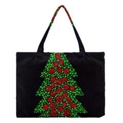Sparkling Christmas tree Medium Tote Bag