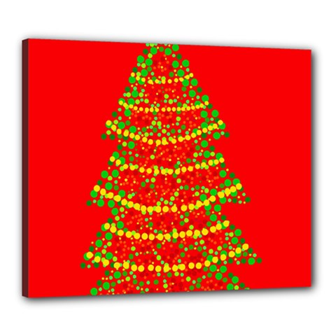 Sparkling Christmas tree - red Canvas 24  x 20