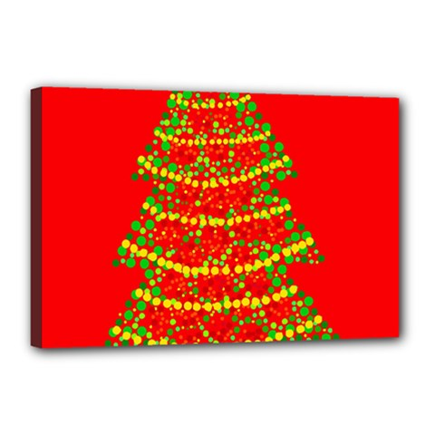 Sparkling Christmas tree - red Canvas 18  x 12