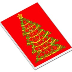 Sparkling Christmas tree - red Large Memo Pads