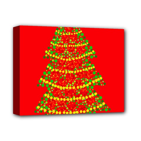 Sparkling Christmas tree - red Deluxe Canvas 14  x 11
