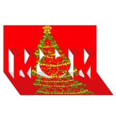 Sparkling Christmas Tree   Red Mom 3d Greeting Card (8x4)