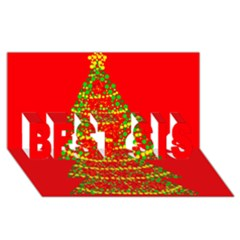 Sparkling Christmas tree - red BEST SIS 3D Greeting Card (8x4)