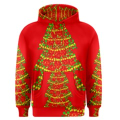 Sparkling Christmas tree - red Men s Pullover Hoodie