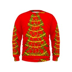 Sparkling Christmas tree - red Kids  Sweatshirt