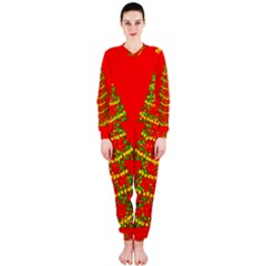 Sparkling Christmas tree - red OnePiece Jumpsuit (Ladies)