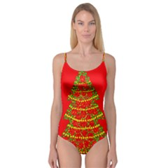 Sparkling Christmas tree - red Camisole Leotard