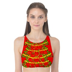 Sparkling Christmas tree - red Tank Bikini Top
