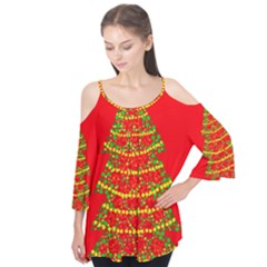 Sparkling Christmas Tree   Red Flutter Tees